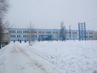 Краснинская Средняя Школа зимой 2009 года
